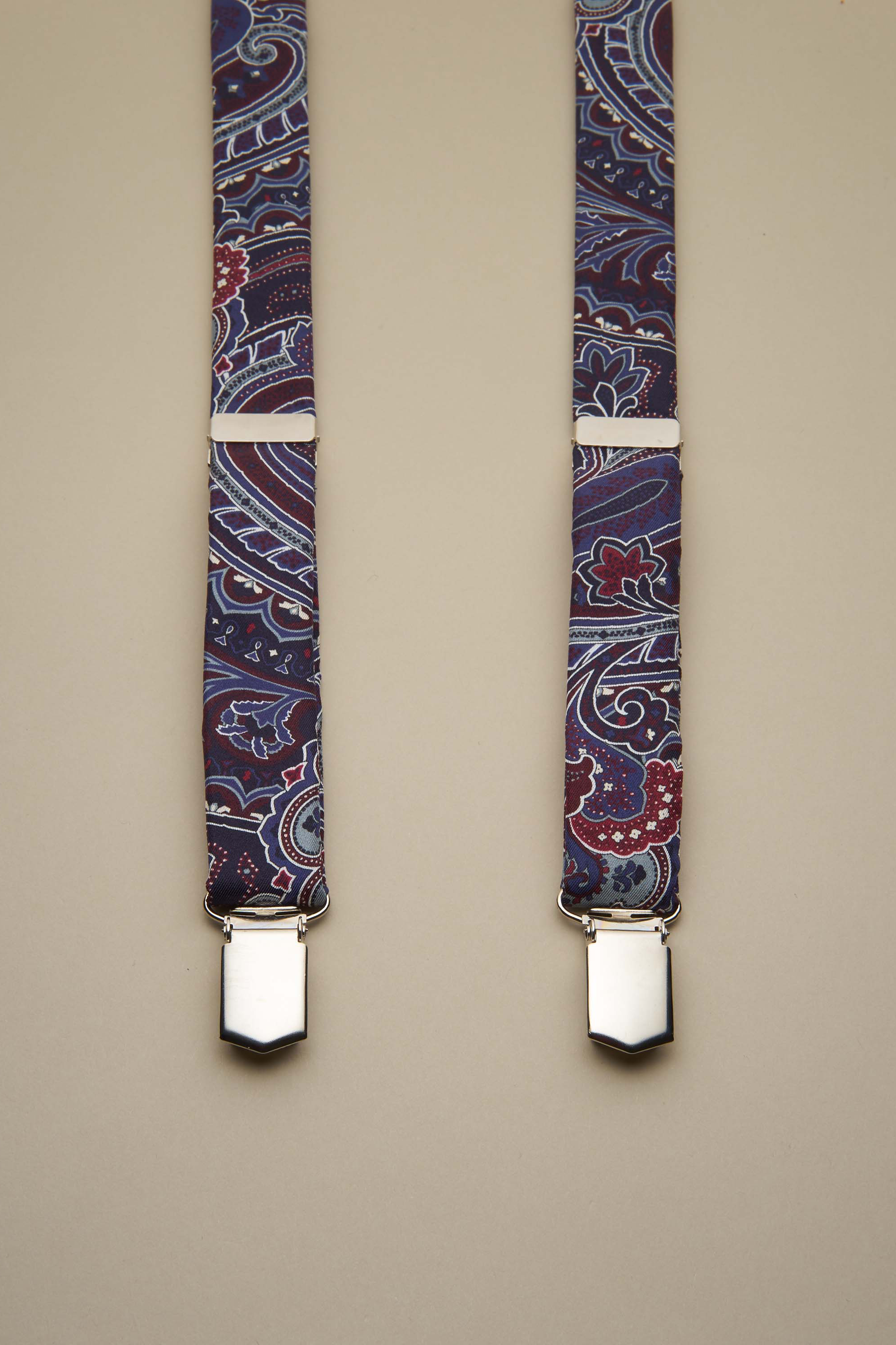 BRACES SATIN (PAISLEY NAVY)